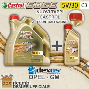 OLIO MOTORE CASTROL EDGE C3 5W30 LITRI 5 (LT. 5) OPEL GM DEXOS2