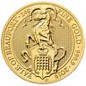 2019 U.K. 100 Pound 1 oz Gold Queen's Beast Yale of Beaufort BU