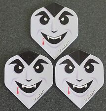 5 Packets of Brand New Ruthless Invincible Darts Flights - Count Dracula