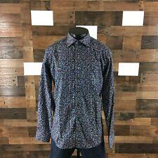 Eton Contemporary Mens 16.5 Large Multi Color Geometric Long Sleeve Dress Shirt