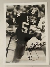 JACK LAMBERT Signed STEELERS 4x6 Photo HOF Autograph