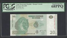 Congo Democratic Republic 20 Francs 30-6-2003 P94a Uncirculated Graded 68