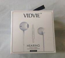 Vidvie Earphone Headset  Heavy Bass Stereo Touch Kit In-Ear Music Black 3.5mm