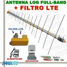 ANTENNA DIGITALE TERRESTRE LOG HD LTE UHF/VHF+ AMPLIFICATORE E ALIMENATORE