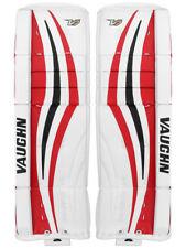 "New Vaughn Xf Pro Sr goalie leg pads 34""+2 Black/Red V7 Velocity senior hockey"