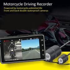 "Motorcycle Cam Recorder 3"" LCD Screen Recorder Waterproof DVR Dual Lens Camera"
