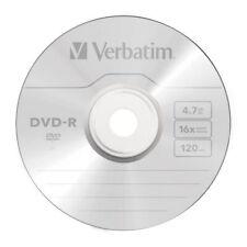 100 DVD -r Verbatim 16x 4.7 GB 120 minuti Vergini Vuoti AZO stock DVDR nuovo