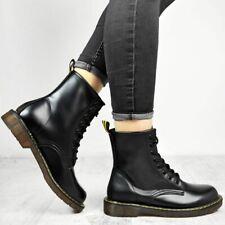 Para mujeres Damas Trabajo Botas informales al tobillo con Cordones Invierno Suela Gruesa Agarre Zapatos Talla