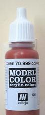 Vallejo Model Color Paint: 17ml Copper 70999 (M176)