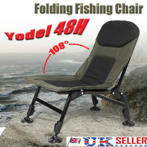 Carp Fishing Camping Recliner Chair Adjustable Leg Mattress Armchair Folding