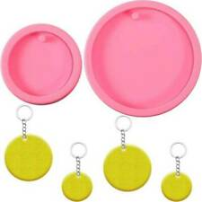 Shiny Circle Round Silicone Mould DIY Keychain Making Epoxy Resin Craft Mold