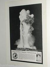1931 Northern Pacific Railway ad, Old Faithful Geyser