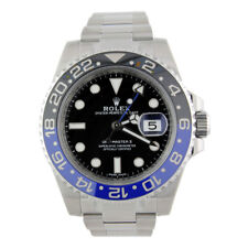 ROLEX GMT Master II Stainless Steel Ceramic Black Blue 116710BLNR Batman