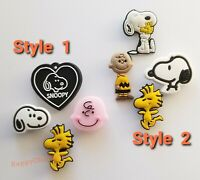 4pcs Snoopy Charlie Brown PVC Shoe Charms for Clogs Gift