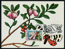 Romania 3465f on Maxi Card - Flower, Butterfly
