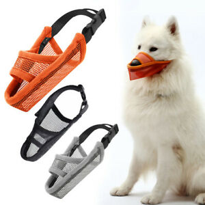 Dog Muzzle Mask Air Mesh Breathable and Drinkable For Dog Pet