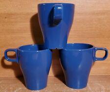 """IKEA FARGRIK ROYAL BLUE Mug set of 3, 4"""", Excellent"""