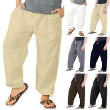 Men Casual Solid Sports Jogging Pants Lose Baggy Oversized Long Trousers Bottoms