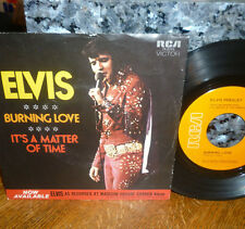 """*<*  ELVIS 1972 1st pressing #2 HIT """"BURNING LOVE"""": CLEAN M- 45 w/PICTURE SLEEVE"""