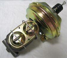 "9"" Chevy Nova Zinc Power Brake Booster Kit + Zinc Bail Top Master Cylinder"