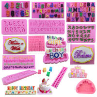 3D Silicone Letter Number Cake Mould Mat Fondant Sugar Craft Mold Deco DIY Tools