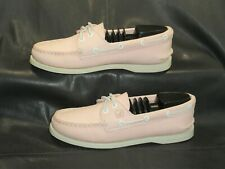 Sperry Top-Sider pink leather moc toe oxford boat style women's shoes size US 7M