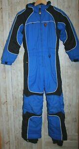 Obermeyer kids boys 7 Snowsuit Ski Suit Hooded Nylon Blue
