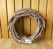 Very Large Tea Tree Wood Round Wicker Wreath Home Wedding Easter Christmas 62 Cm
