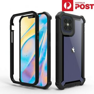 For Apple iPhone 11 Pro Max SE Rubber Shockproof Heavy Duty Hard Back Case Cover
