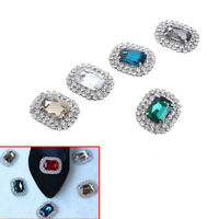 1PC women crystal rhinestone metal shoes clips bridal shoe charms decors  9K