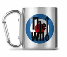 OFFICIAL THE WHO CARABINER CLIP HANDLE METAL COFFEE MUG CUP