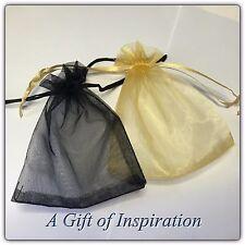 10 x Black gift bags 12cm x 10cm Organzer drawstring, wedding, gifts, jewelery
