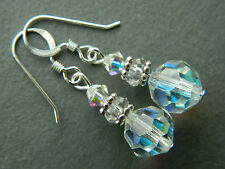 Crystal Silver Earring Vintage Costume Jewellery