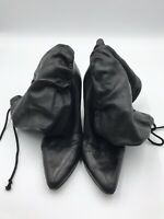 Helmut Lang SoleTech Black Leather Boots 38 Made in Italy Unique EUC