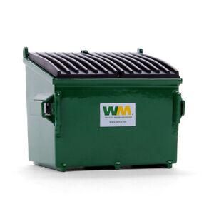 First Gear Green Waste Management Refuse Trash Bin Die Cast New IOB 90-0169T