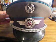 East German Army Officers Visor Hat  NVA 58 1856C circa 1983