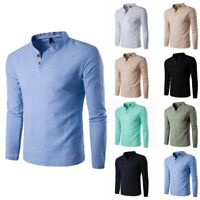 T Tee Cotton Men's Men Slim Long Casual Tops Fashion Shirts Shirt Sleeve
