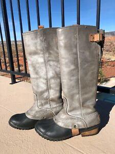 SOREL SLIMPACK TALL 8 Equestrian Riding Rain Boots Women knee Waterproof Rare!