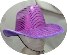 Chapeau de cow-boy pailleté violet [700045] deguisement fetes costume carnaval