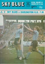 COVENTRY CITY V DARLINGTON ~ LEAGUE CUP 2ND ROUND ~ 8 OCTOBER 1973