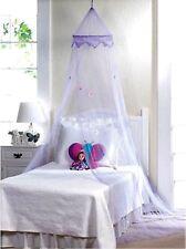 Magical Purple Bed Canopy W/ Purple Flowers On Netting * Nib