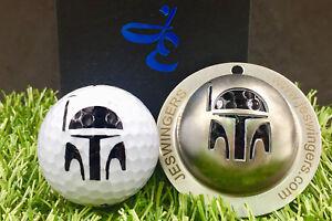 Boba Fett StarWars Golf Ball Custom Marker Stainless Steel