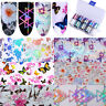 Holographic Flower Nail Foils Dreamcatcher Nail Art Transfer Stickers Decals DIY