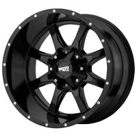 """4-Moto Metal MO970 16x7 5x130 +42mm Gloss Black Wheels Rims 16"""" Inch"""