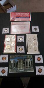 Coin lot 2002 Mint Set Buffalo WWII Coin Golden Dollar Quarters =NO JUNK DRAWER