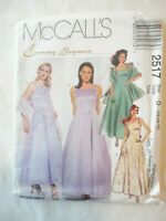Vintage 1999 Sewing Pattern Evening Gown w/ Crinoline & Stole Size 6-8-10 Uncut