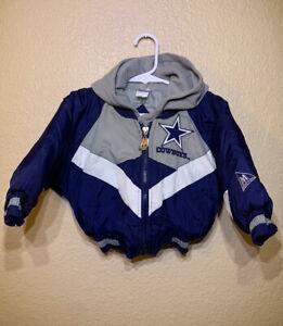 Youth Kids Vtg NFL Dallas Cowboys Jacket Coat