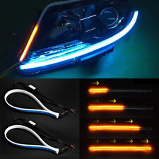 45cm Car LED Soft Tube Strip Daytime Running Light Turn Signal Lamps Accessories