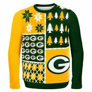 NFL Green Bay Packers Men's Busy Block Ugly Sweater # XX-Large