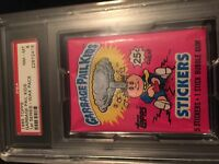 1985 GARBAGE PAIL KIDS FIRST SERIES .25 PACK PSA 8 PLUS FULL BOX  1-15 BBCE SEAL